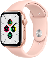 Apple Watch SE (GPS) 44mm Aluminum Case (gold) with Sport Band (pink sand) (MYDR2)