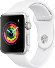 Apple Watch Series 3 (GPS) 42mm Aluminum Case (silver) with Sport Band (white) (MTF22)