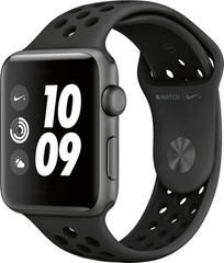 Apple Watch Nike Series 3 (GPS) 42mm Aluminum Case (space gray) with Nike Sport Band (black) (MTF42)
